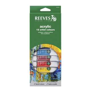 Reeves 12 Acrylic Color Set #Cat Acrylic