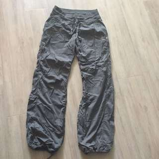 Lululemon Size 6 Grey Lined Studio Pants