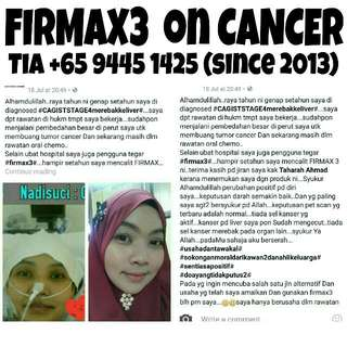 FIRMAX3 * CANCER TESTIMONIAL * You May Save A Life Knowing What FIRMAX3 Miracle All-in-One Nano Cream May Do To Us And Change Everyones Lifes. ♥♥♥