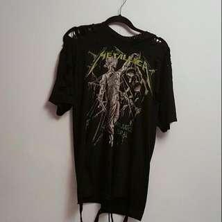 Distressed Metallica t-shirt