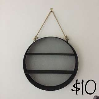 Circular Decorative Shelves - Black