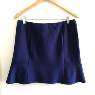 Free Shipping Mini Navy Blue Skirt