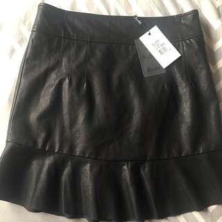Women's Leather Look Skirt