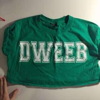 """""""dweeb"""" crop top 🍒"""