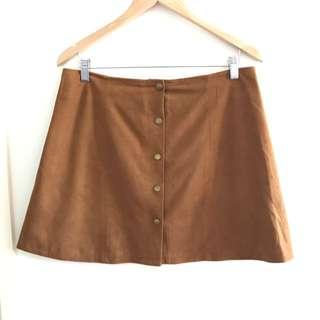 Free Shipping Mini Camel Felt Skirt