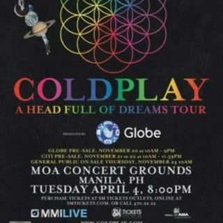Coldplay 1 VIP ticket (REPRICED)