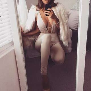 Beige Myra Collection Jumpsuit