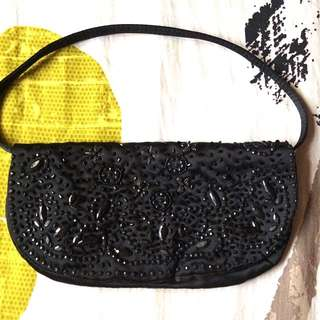 MANGO Beaded Evening Purse