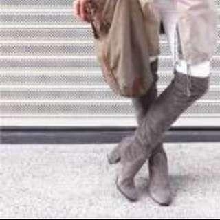 Wittner Over The Knee Grey Boots