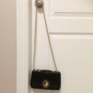 Kate Spade Black Leather Chain Purse