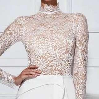 Misha Collection Amaia Lace Bodysuit Size 12