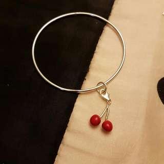 Cherries Charm Bangle