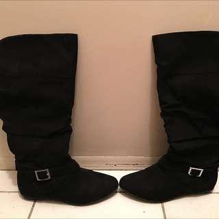 below knee high boots