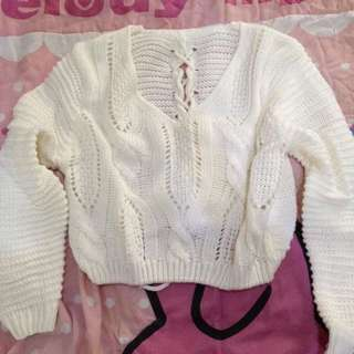 Sweater Crop Lucu