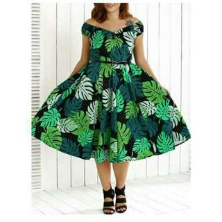Green 50s Style Dress