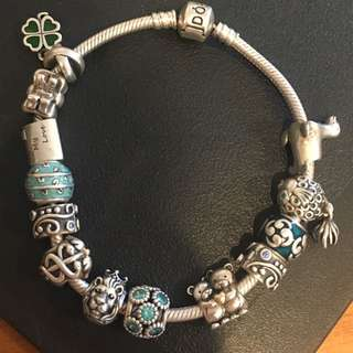 Original Pandora Bracelet, Clips And Charms Each Sold Separately
