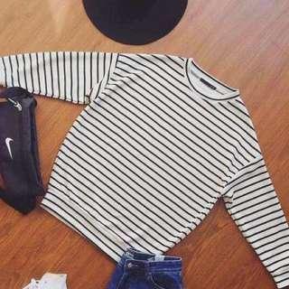 Heather Stripe Sweater