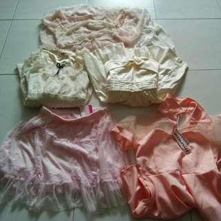Bundle @10sgd Dress Tube Skater Dress And Skirt 2sgd Each
