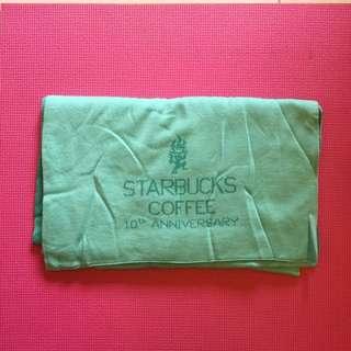 星巴克10週年圍披巾 超有質感