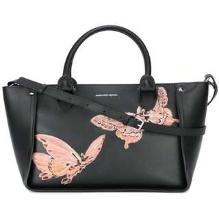 ALEXANDER MCQUEEN  'Inside Out' butterfly embroidered tote bag