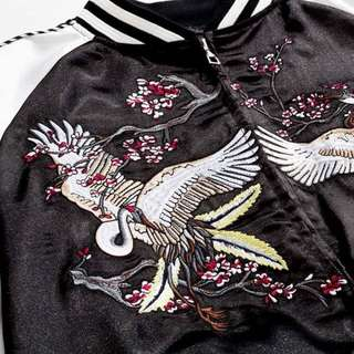 「韓國代購」高品質橫須賀雙面穿刺繡外套