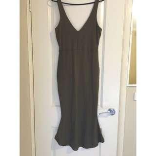 Khaki Green Kook is Dress