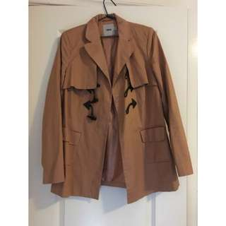 Brown ASOS Coat With Buttons