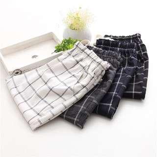 Korean Grid Slack Pants