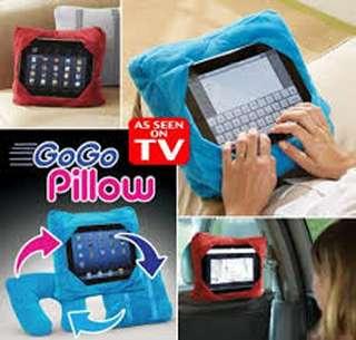 Gogo Pillow Bantal 3 in 1 Travel Pillow Bantal Leher Sandar Tablet Mob
