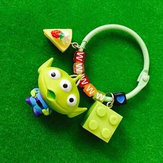 🎄聖誕限時優惠#客製-玩具總動員三眼怪身體搖搖字母鑰匙圈