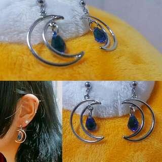블루문 귀걸이