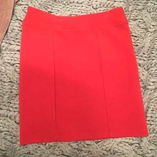 Sportsgirl Red Skirt XXS