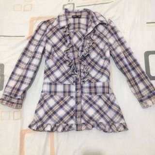 Warehouse 3/4 Sleeves Check Shirt