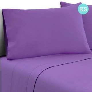 3 Piece Microfibre Sheet Set King Single – Purple
