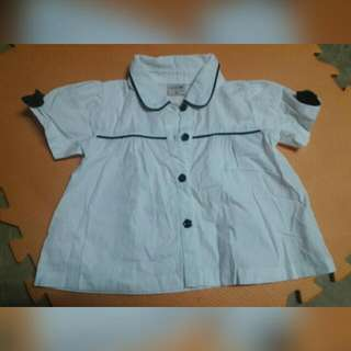 Kids - White Cute Polo Top