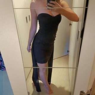Bardot Black Flowing half Maxi Dress size 8