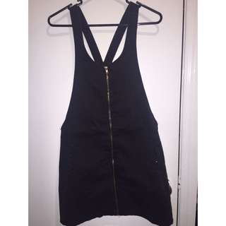 CottonOn Overall Black Denim Dresd