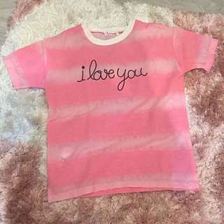 Pink T Shirt With Lace Print