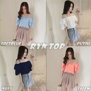 RYN SABRINA / OFF SHOULDER BLOUSE
