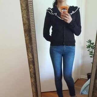 Moschino Black Cardigan Size 6/8