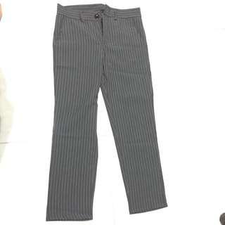 Grey Pinstripe Work Pants