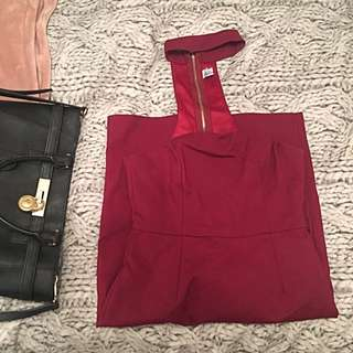 Burgundy Side 10 Dress