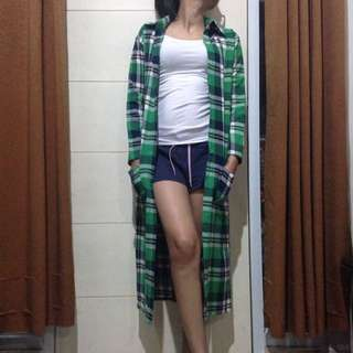 Green Long Cardi