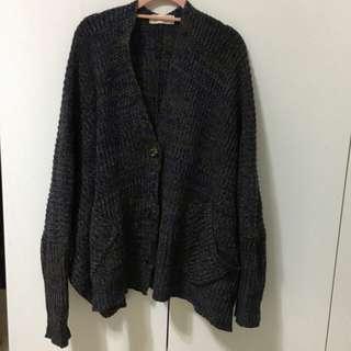 韓版 Oversize寬鬆感 混織 毛衣 罩衫 針織衫