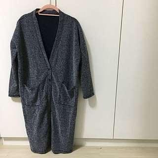 混織長版罩衫 針織