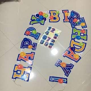 Happy Birthday Banner (with Age Sticker)