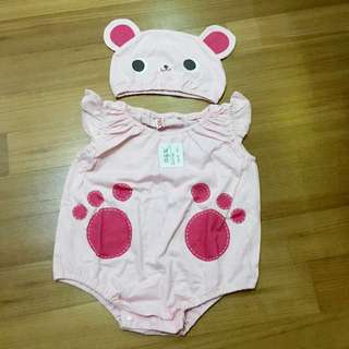 Baby Girl Romper With Hat