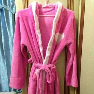 愛心粉色浴袍
