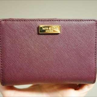 Maroon/Burgundy Kate Spade Bifold Wallet