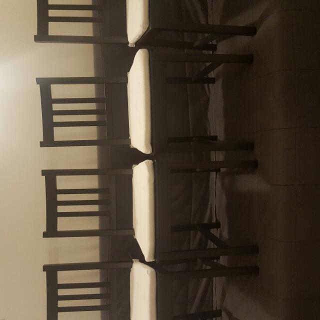 4 chairs IKEA with cushion